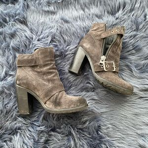 All Saints Suede Heel Ankle Boots